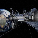 via satelite